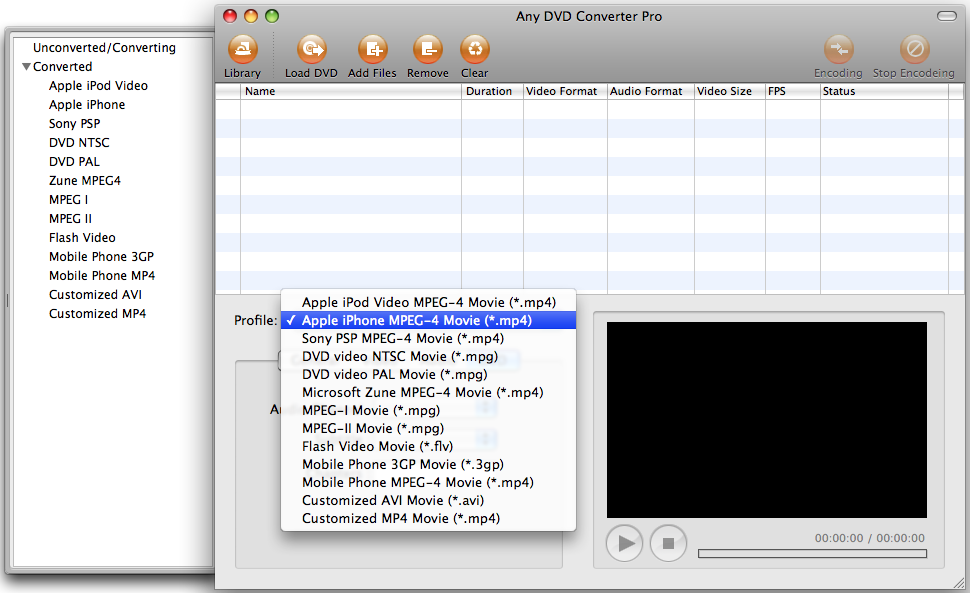 converting dvd videos to iPod, iPhone, PSP, Zune