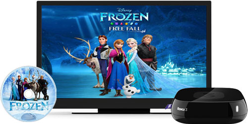 Play DVD Movie on TV with Roku 3